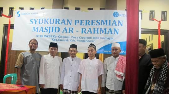 Peresmian masjid Ar-Rahman kampung Cisempu