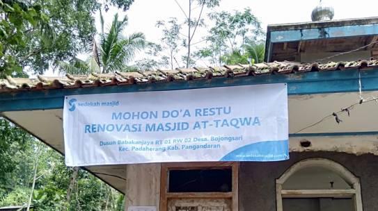 Renovasi masjid At-Taqwa sudah dimulai